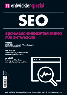 entwicklermag seo 2019 Cover